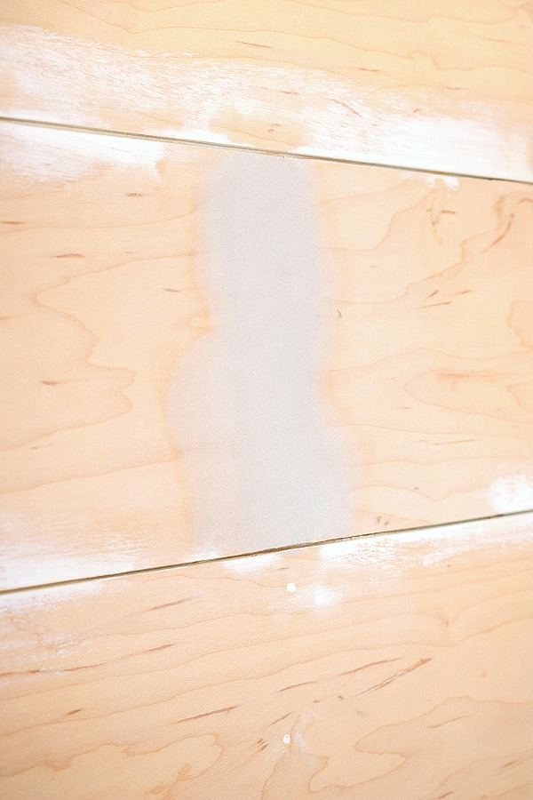 Tip for eliminate joints on shiplap walls - use auto body filler!