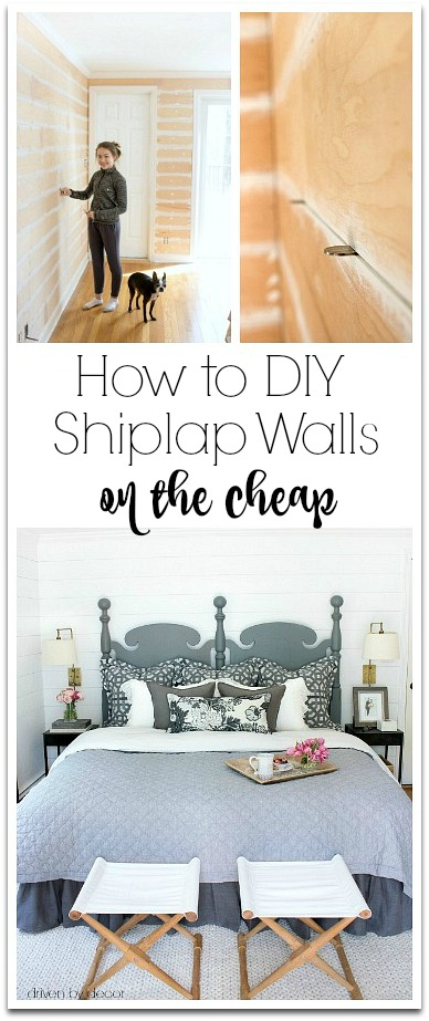 Tips and tricks for adding DIY faux shiplap walls on a budget!