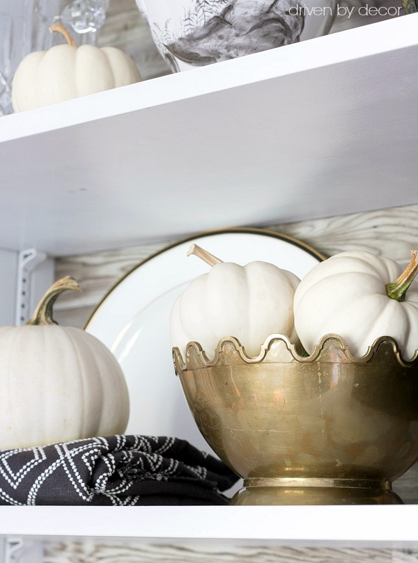 White pumpkins for fall decorating
