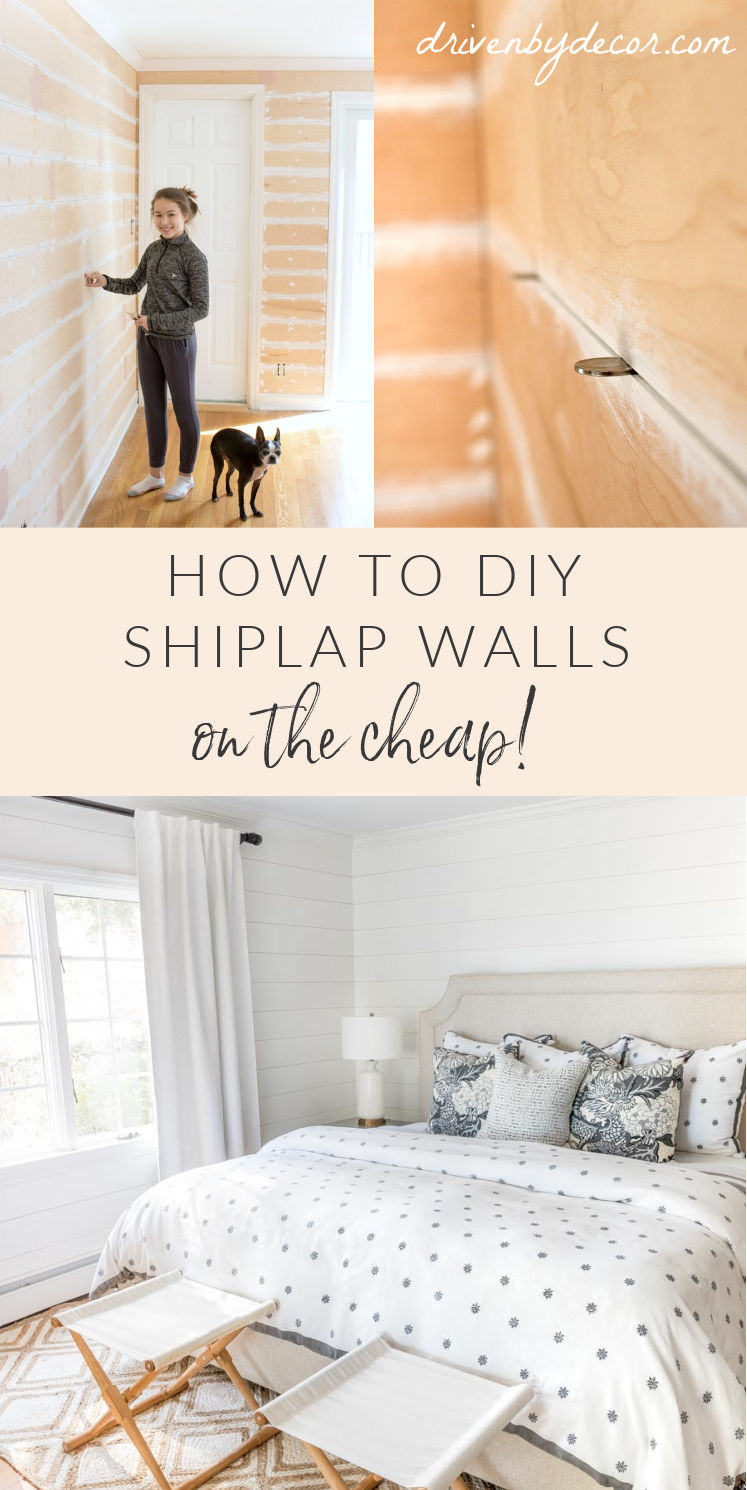 How to DIY a shiplap wall on the cheap!