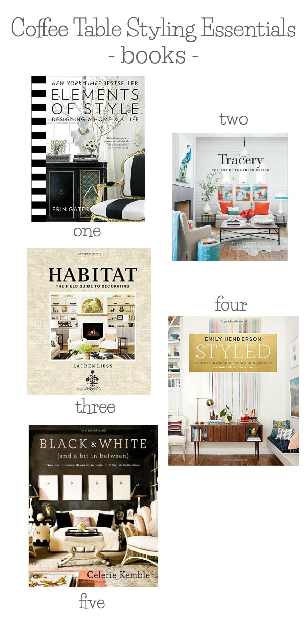 Coffee table styling essentials - my favorite books