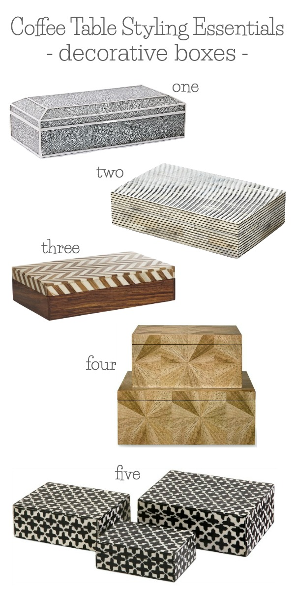 Coffee table styling essentials - my favorite decorative boxes