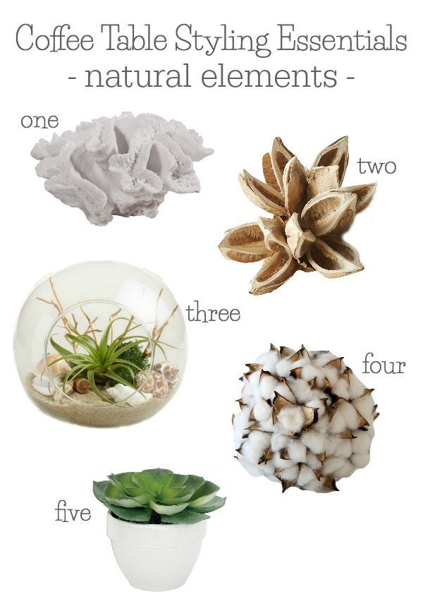 Coffee table styling essentials - my favorite natural elements