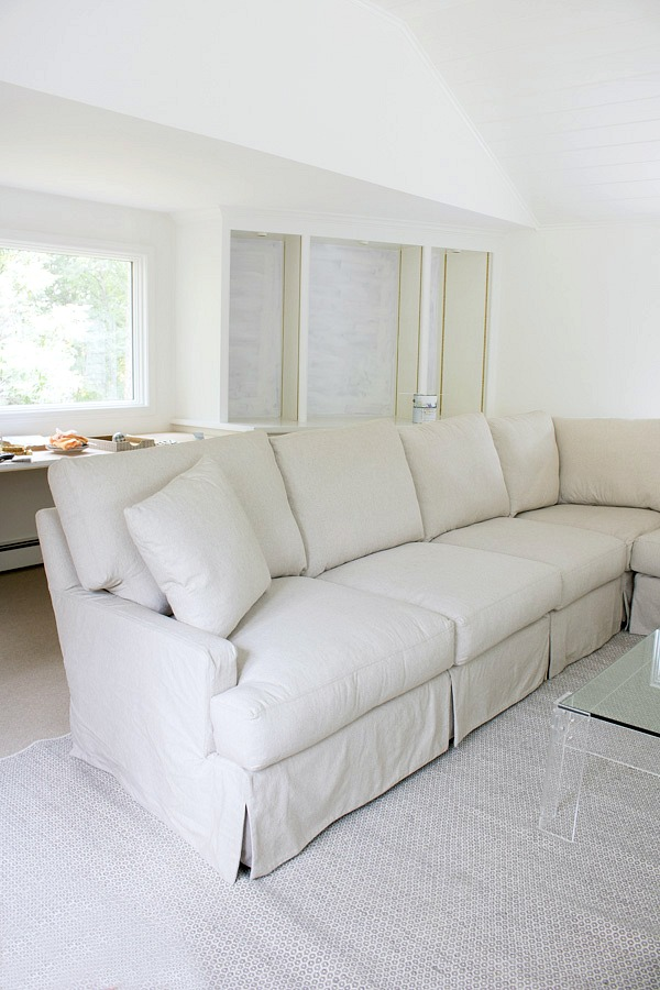 One Room Challenge Week 4: A Killer New Sectional & Coffee Table, My ...