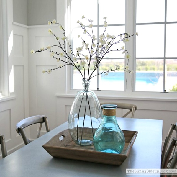 Simple, beautiful kitchen table centerpiece