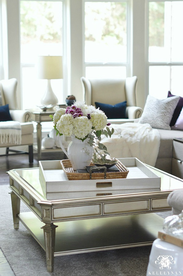 Style your coffee table with a tray within a tray