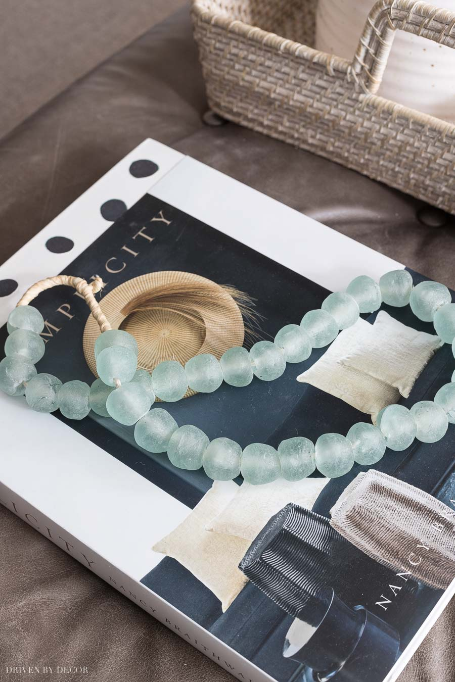 Gorgeous glass beads - one of the many ideas for coffee table decor in this post!