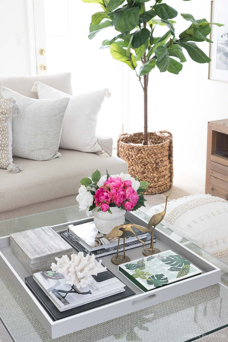 Great post on coffee table decor with tips for styling your own!