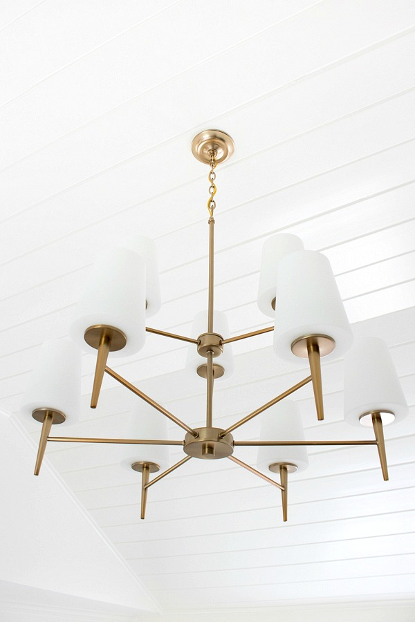 Beautiful two-tiered chandelier