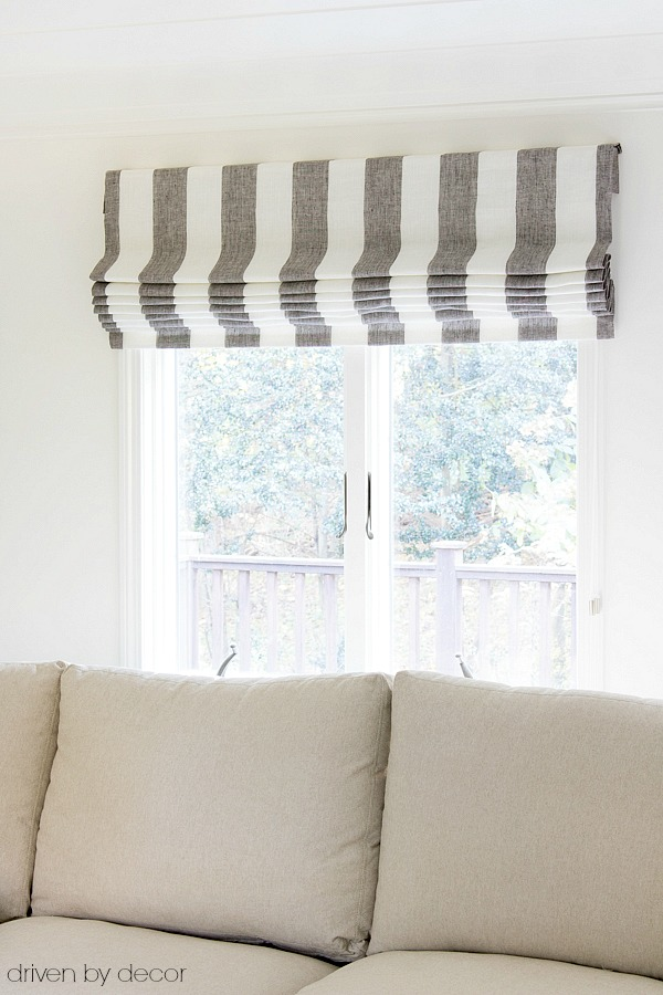 Flat roman window shades from The Shade Store