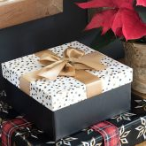 Gift box and wrapping paper from Walmart
