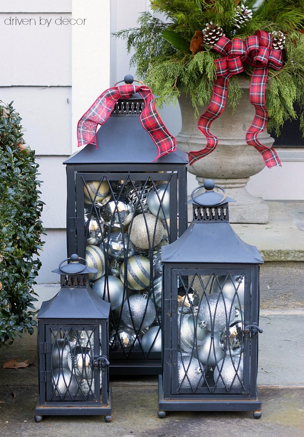 Cyber monday deals and five quick easy outdoor holiday for Outdoor christmas lantern decorations
