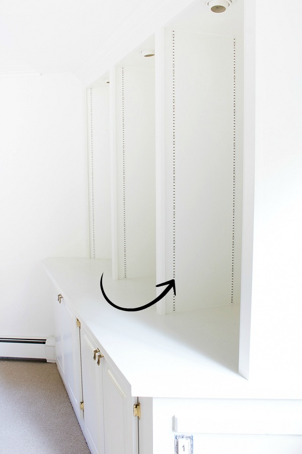 Painted bookcase brackets