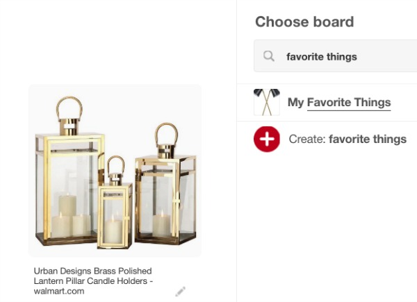 Pin your favorite things to be notified of price drops!