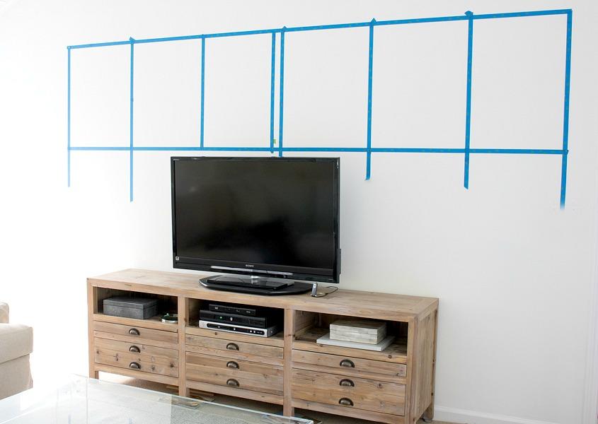 Planning of art wall around TV