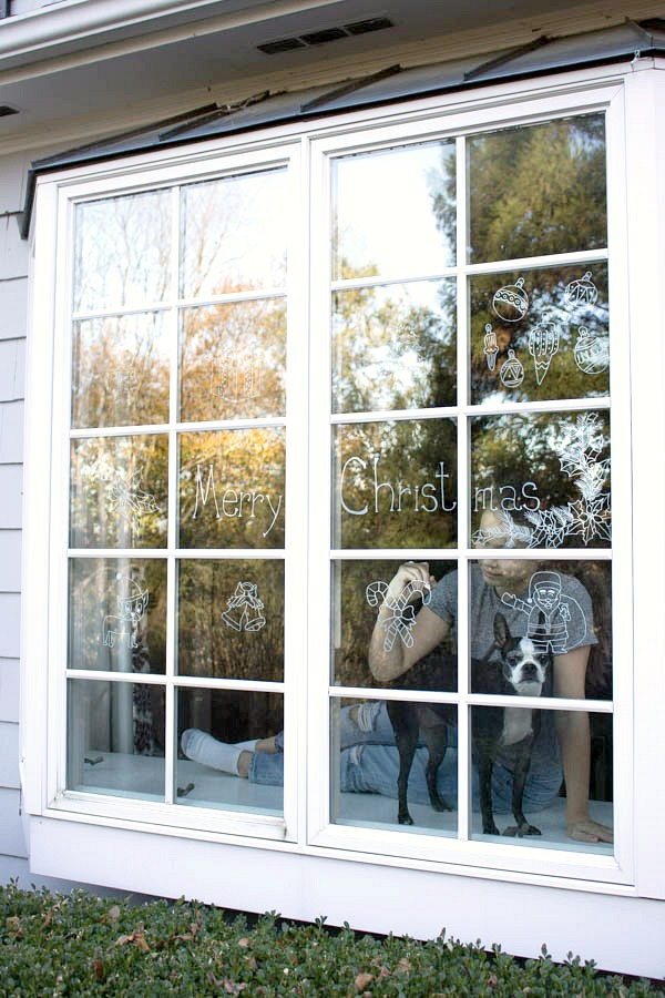 Decorate your windows with chalk ink markers for Christmas and just wipe off your art after the holidays are over!