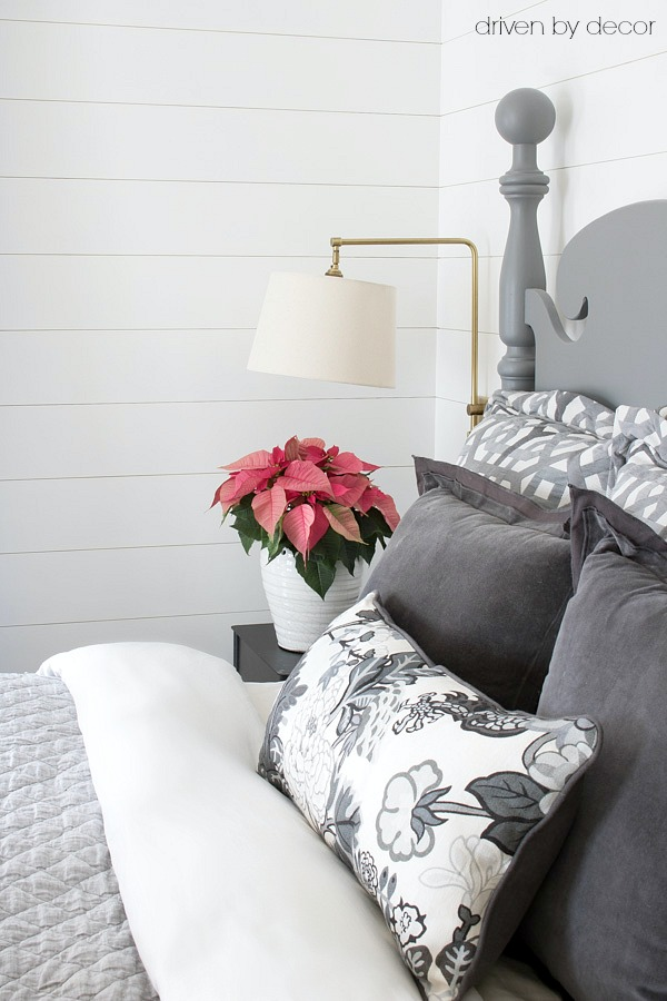 Swing arm sconces for bedroom lighting - love!