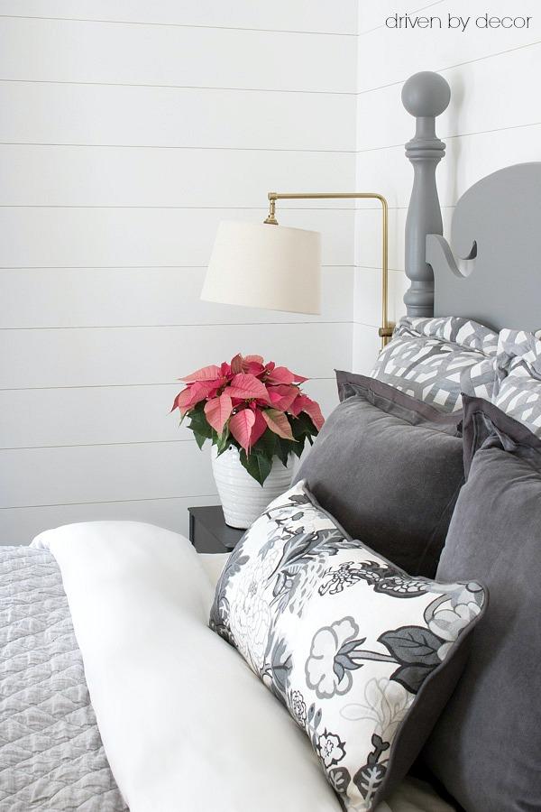 Swing arm sconces for bedroom lighting - love!