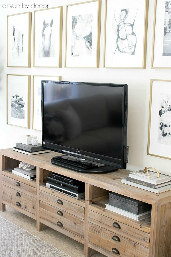 Gorgeous reclaimed wood TV / media console