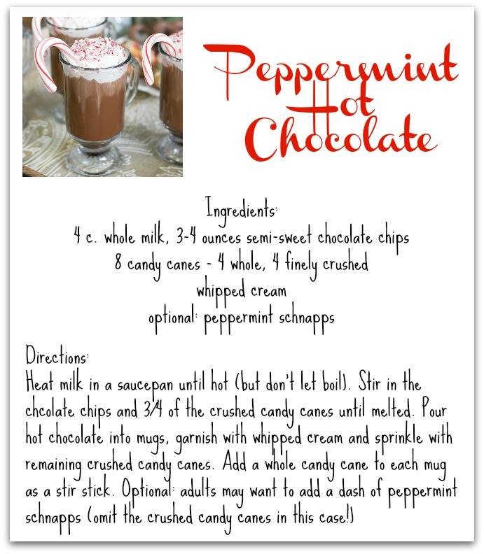 Simple peppermint hot chocolate recipe