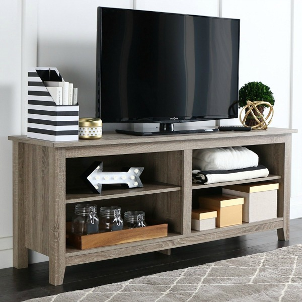 Inexpensive driftwood media console