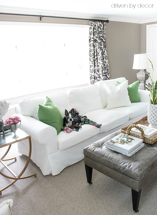 Ikea Rp White Slipcovered Sofa
