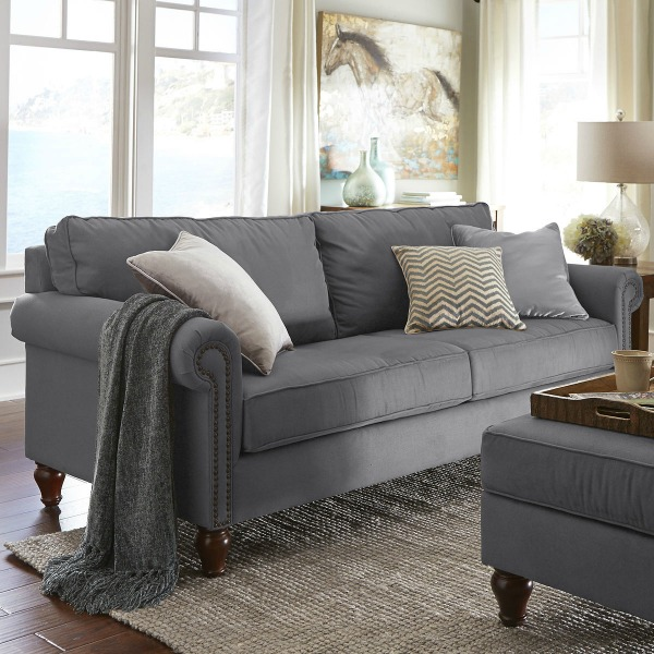 Good Pier1 Alton Sofa In Graphite