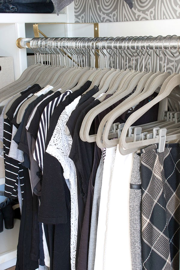 The perfect solution to a crowded closet - fit twice the clothes with slim, huggable hangers!
