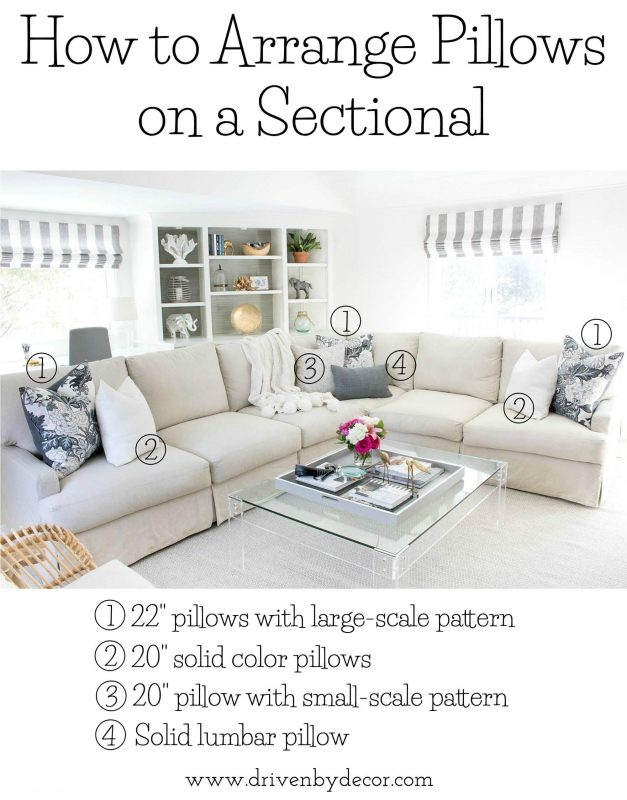 How Many Throw Pillows On A Sectional Couch : Pillow Sizes For Sofa Sofa Pillow Sizes Read This Before You Another Throw Clic - TheSofa