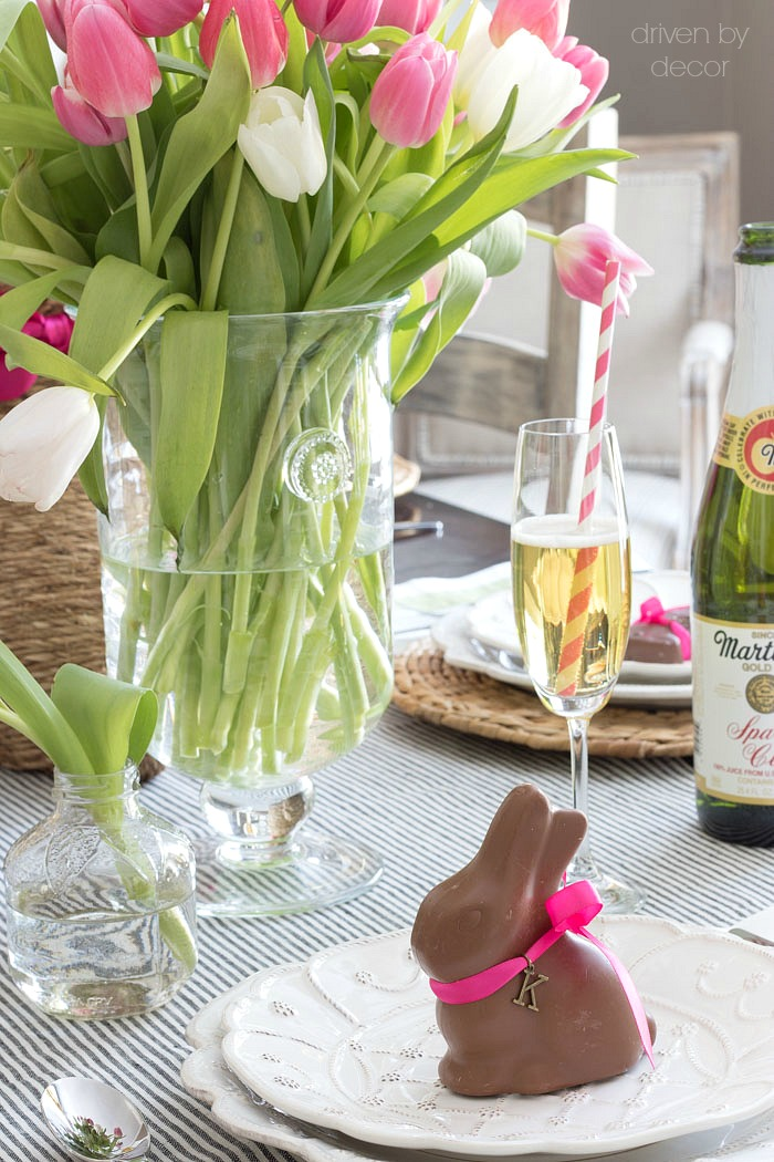 Chocolate bunny place cards for an Easter table - love this idea! : easter table setting - Pezcame.Com