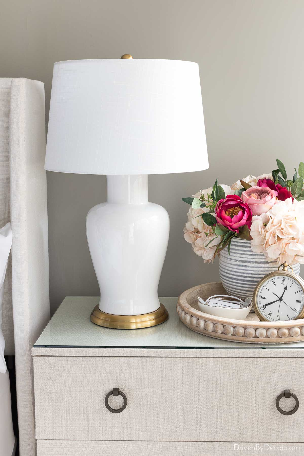 Love this classic ring pull on our dresser. Would be beautiful on a bathroom cabinet too!