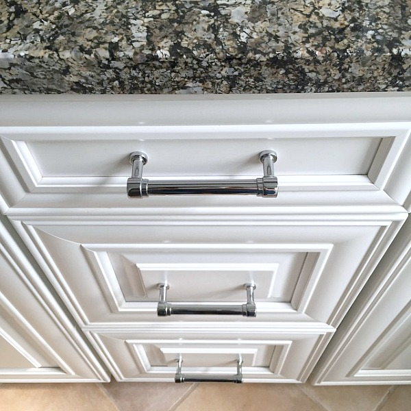 Gorgeous Silver Cabinet Pulls For A Bathroom Vanity