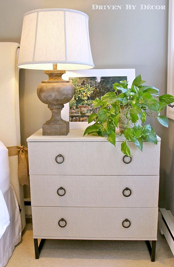 Chest of drawers (an IKEA hack) with bronze ring pulls