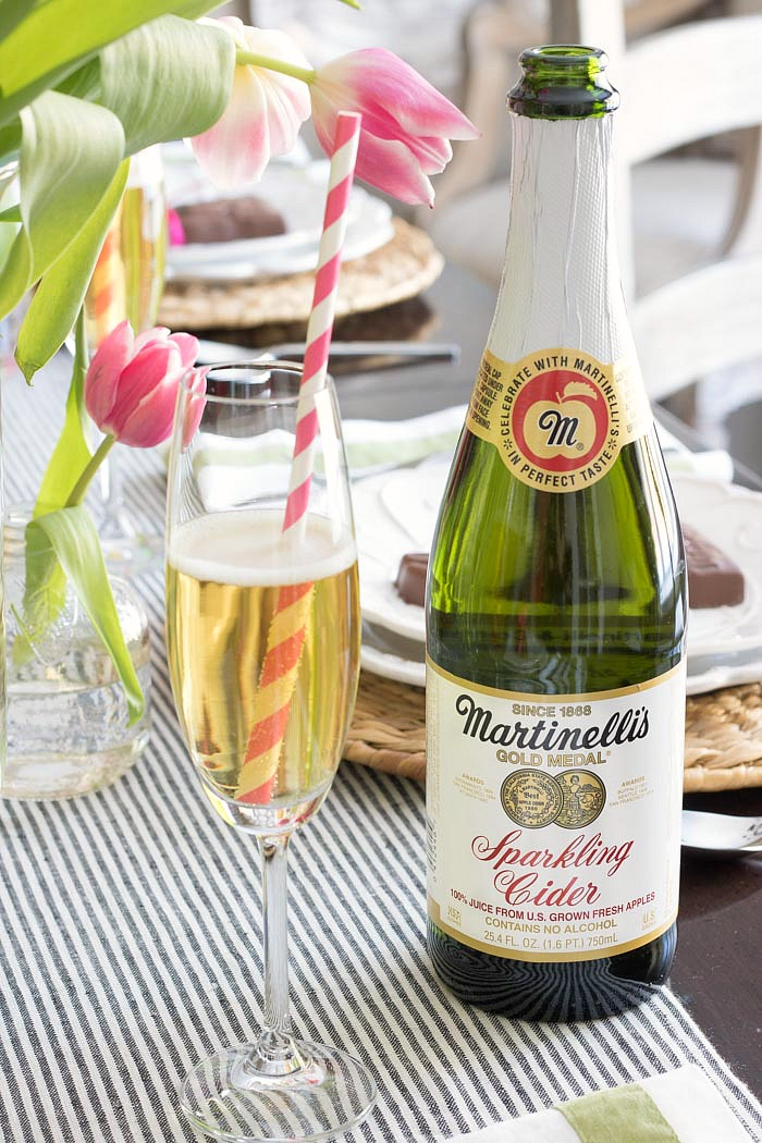 Sparkling apple cider is the perfect festive drink for holiday gatherings!