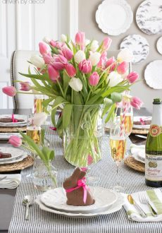 Setting a Simple Easter Table (With Decorations You Can Snag at the Grocery Store!)