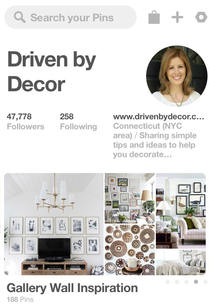 Driven by Decor on Pinterest - Gallery Wall Inspiration