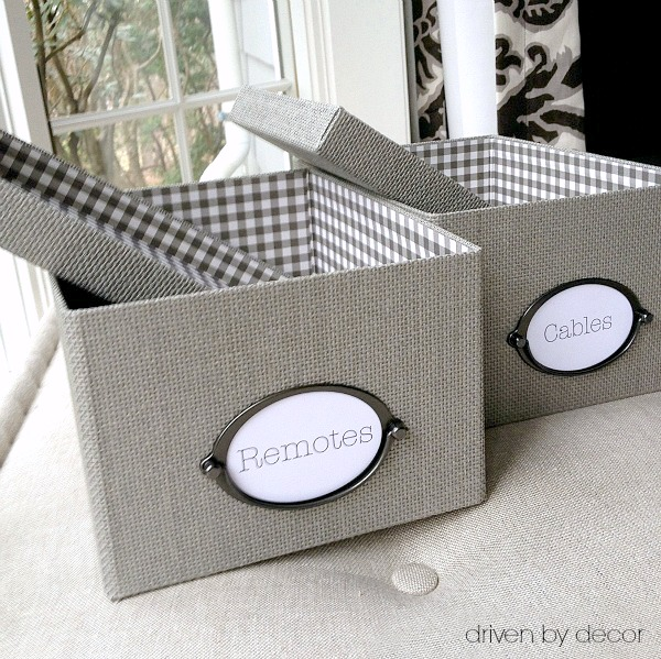 My favorite inexpensive storage boxes - IKEA's gray KVARNVIK boxes