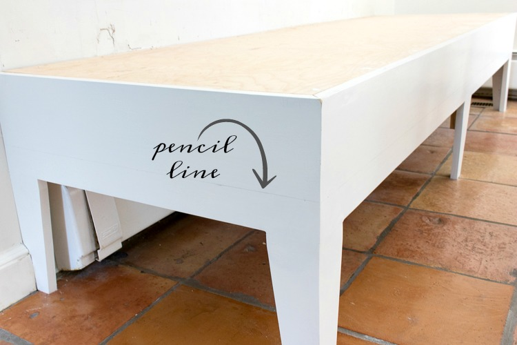 Adding fabric to the base of a kitchen banquette