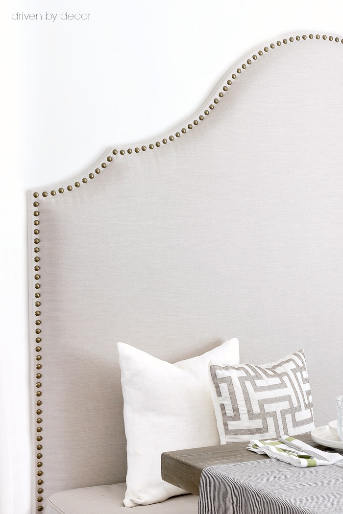 The trick for how to apply nailhead trim in a straight line!
