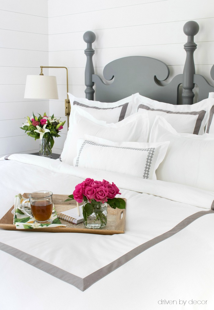 LOVE this soft, hotel-like bedding (Duvet and Euro, standard, and lumbar shams) - details and links in post!