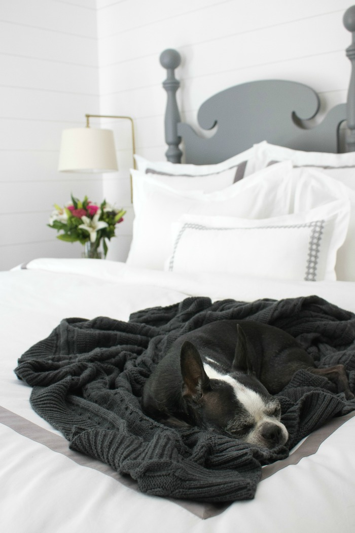 Love this gray cable knit throw!