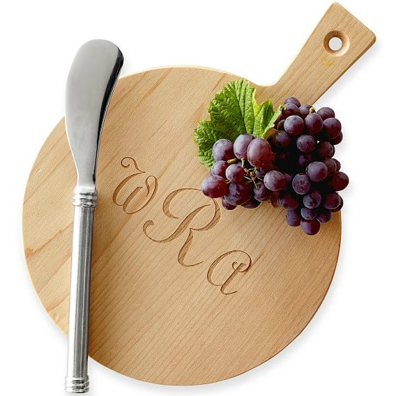 Monogrammed mini cheese board - perfect for a hostess gift!