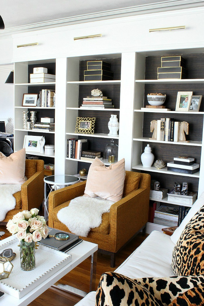 Gorgeous built in bookcase by Bliss at Home