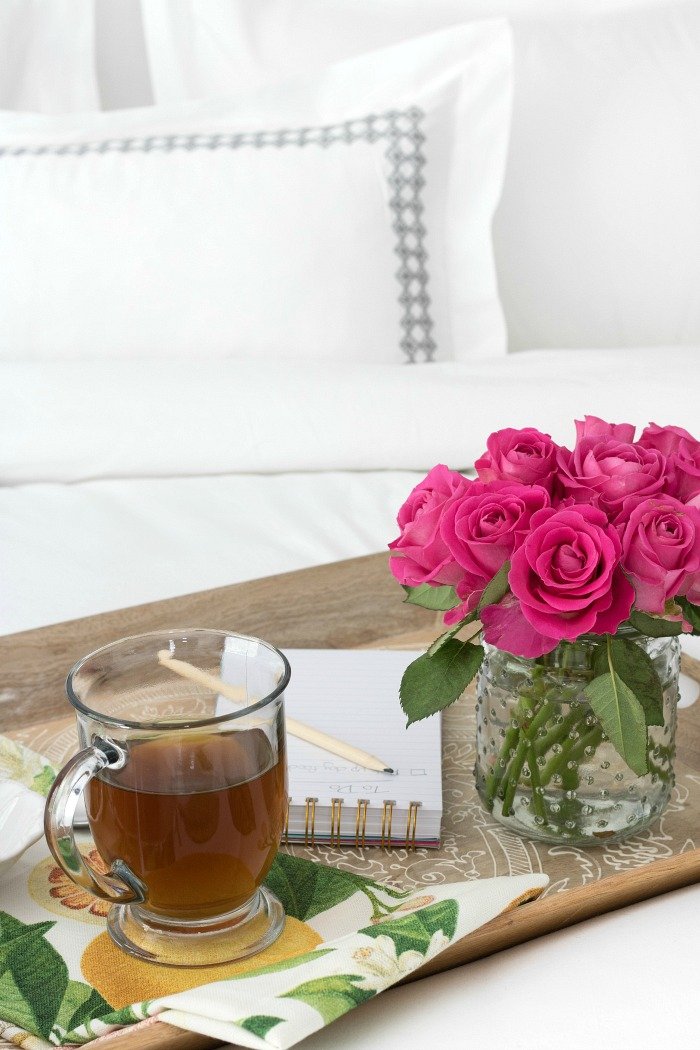 Beautiful wood tray - perfect for coffee in bed!