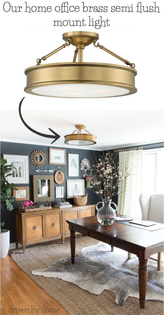 Love all of the flush mount lighting options in this post! Especially this brass semi flush mount - link to purchase in post!