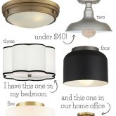Click over to check out all ten of my favorite flush mount ceiling lights!
