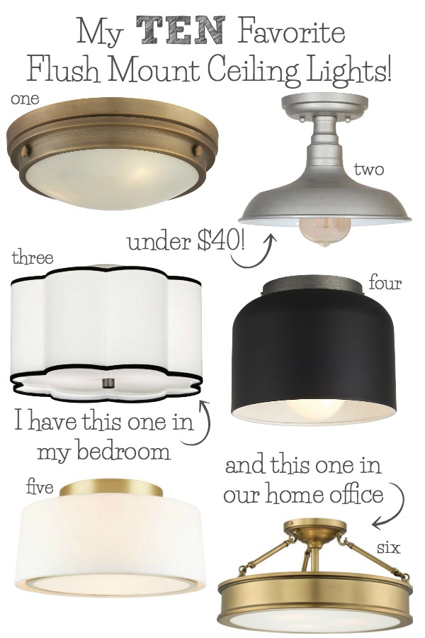 the latest afda6 a56b2 Best Flush Mount Ceiling Lighting - My 10 Faves From ...