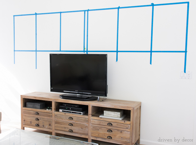 How to hang art level in a gallery wall arrangement without putting extra holes in the wall!