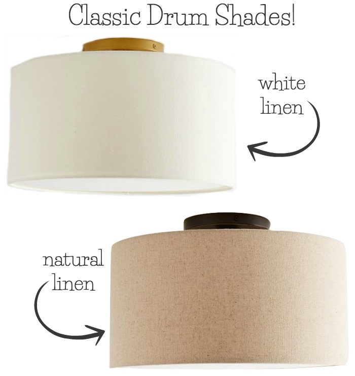 These inexpensive fabric drum shades are some of my favorites from this post of the best flush mount ceiling light fixtures!