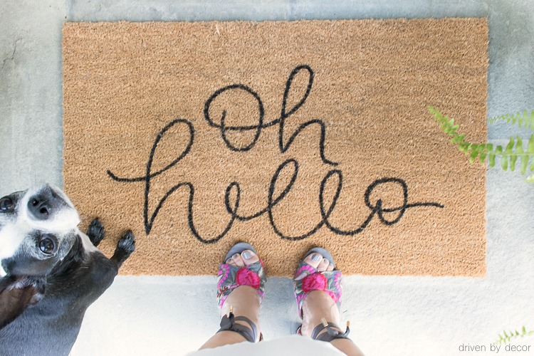 Love this Hello doormat! Post includes link to buy it!